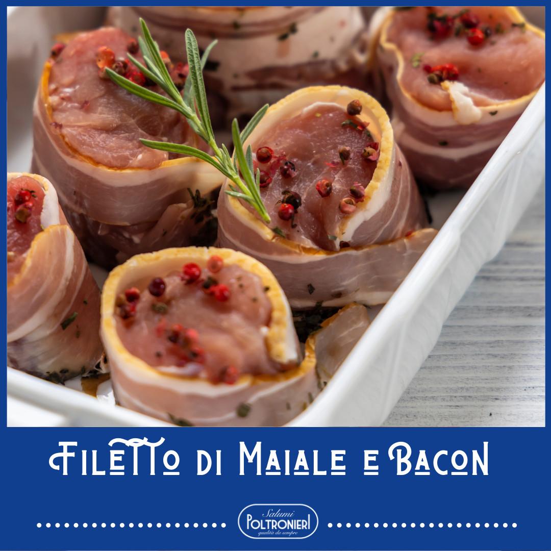 Filetto di Maiale Con Bacon e Miele